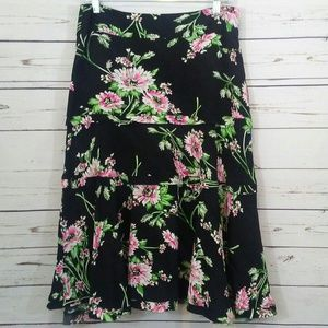 Cabi floral skirt size 6